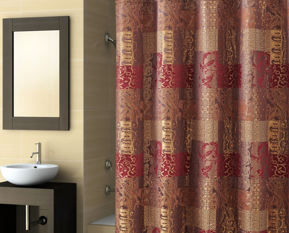 Red And Brown Plaid Shower Curtain Shower Curtain Design within measurements 1107 X 894
