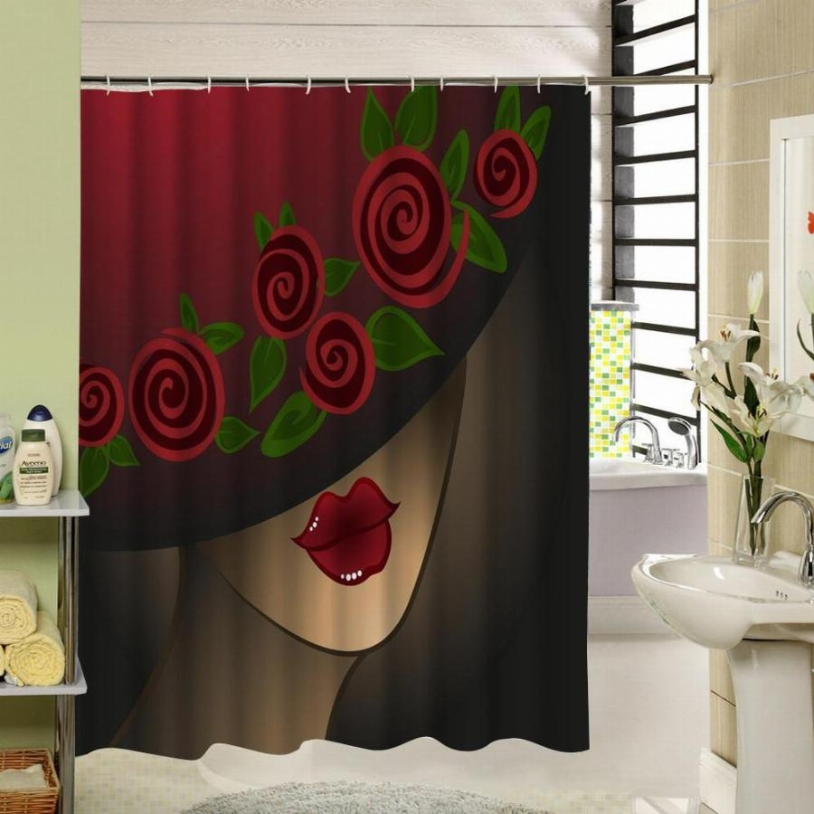 Red Rose Shower Curtain Hooks Shower Curtain Ideas pertaining to size 900 X 900