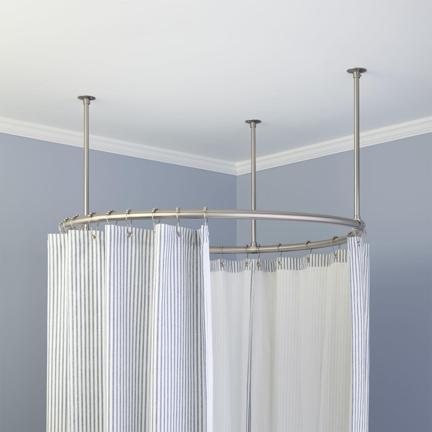 Round Clawfoot Tub Shower Curtain Bed Shower Design Of inside sizing 1500 X 1500