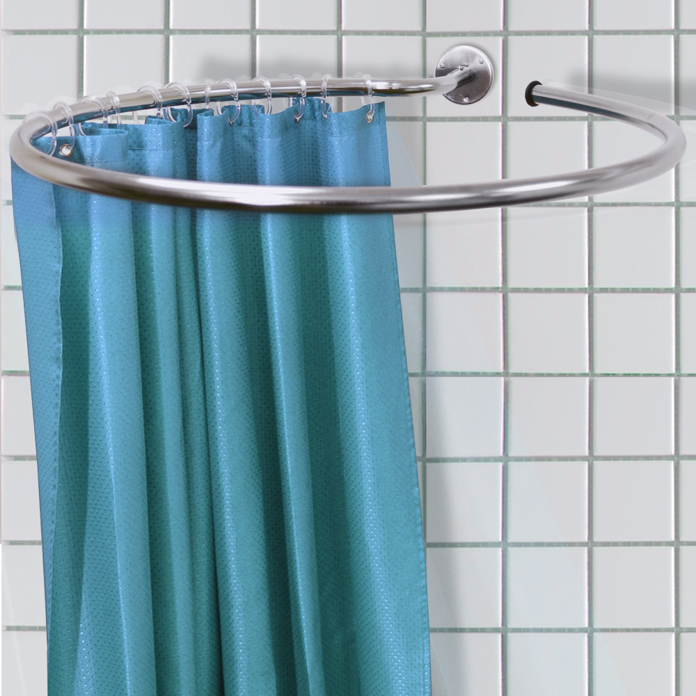Round Shower Curtain Rod Designs Bed And Shower Ideal Round For Proportions  1000 X 1000