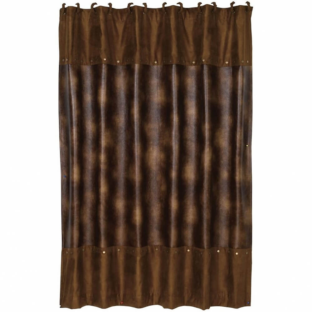 Rustic Faux Leather Shower Curtain Cabin Place regarding dimensions 1000 X 1000