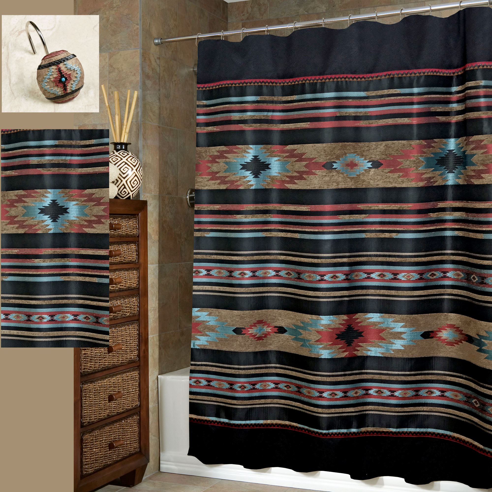 Santa Fe Southwest Shower Curtain Veratex inside size 2000 X 2000