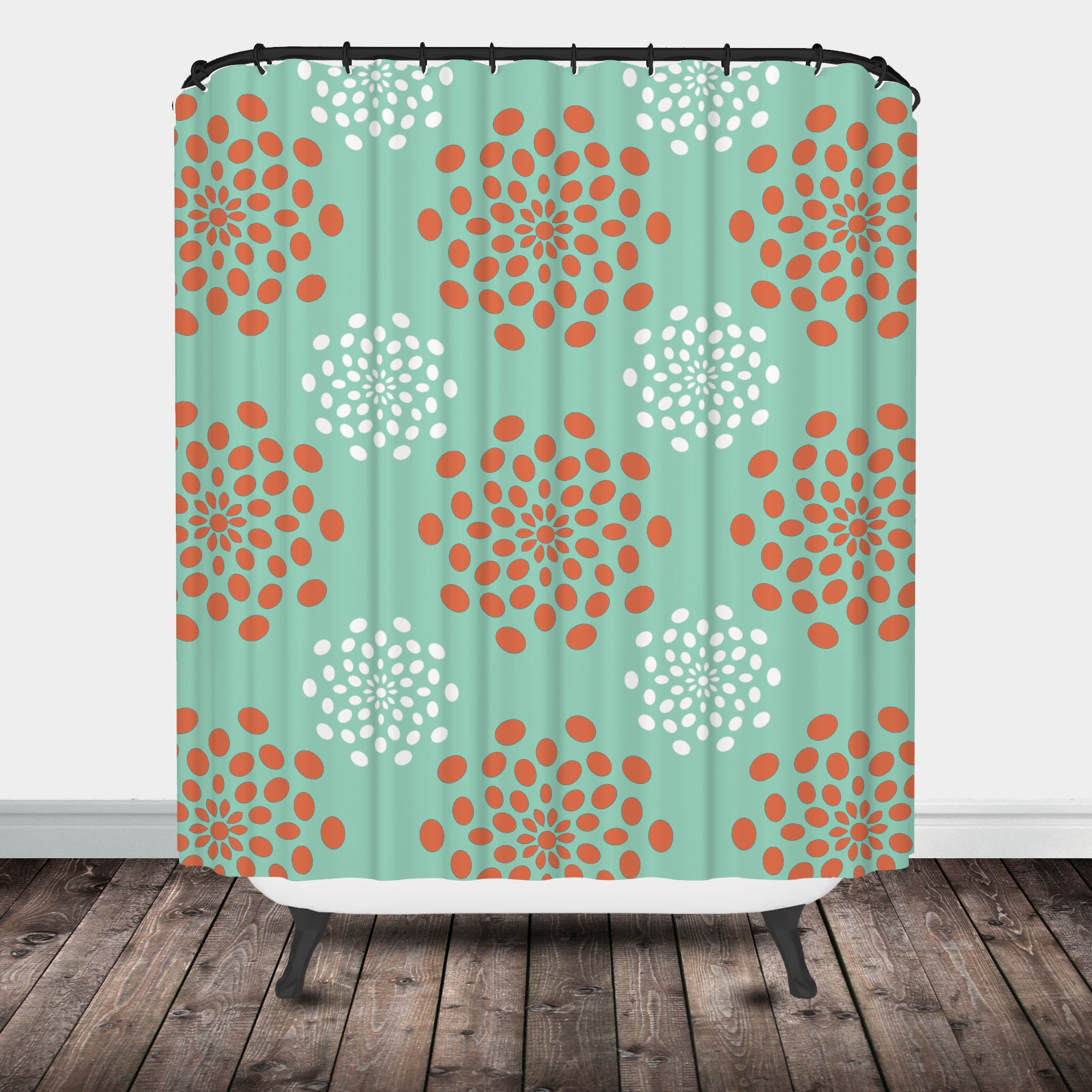 Seafoam Green Chevron Shower Curtain Shower Curtains Ideas
