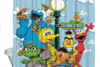 Sesame Street Shower Curtain Shower Curtain Design pertaining to size 1000 X 1000