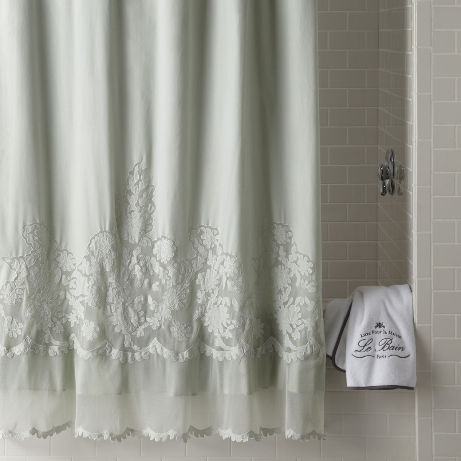 Simply Shabby Chic Embroidered Shower Curtain • Shower Curtains Ideas