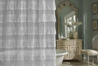 Sheer Lace Different Shower Curtain Ideas Bathroom Different with sizing 1009 X 1009