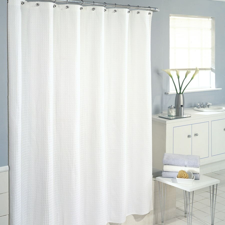 fabric curtain liner sheer shower white long pcs extra
