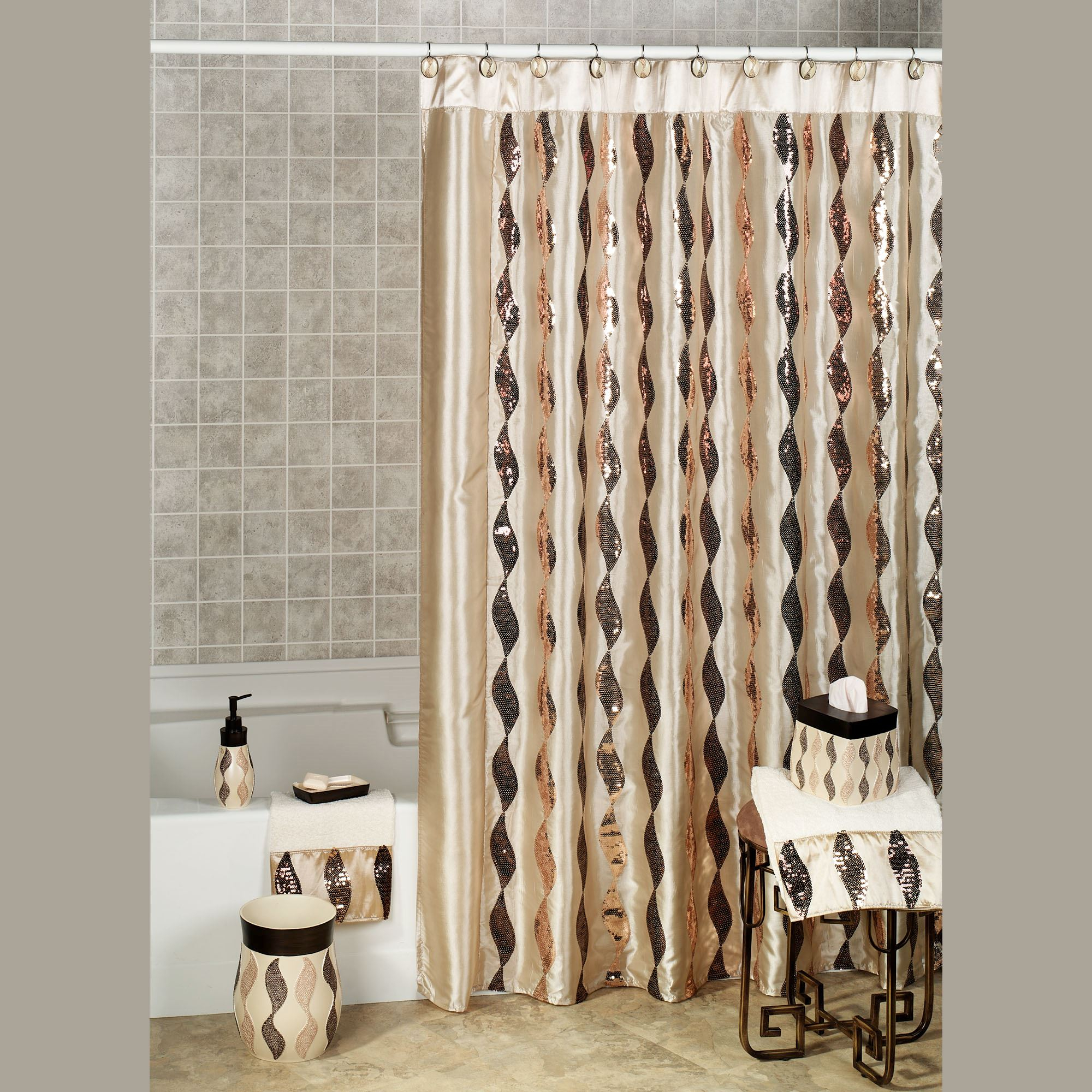 Shimmer Sequin Ribbon Shower Curtain pertaining to proportions 2000 X 2000