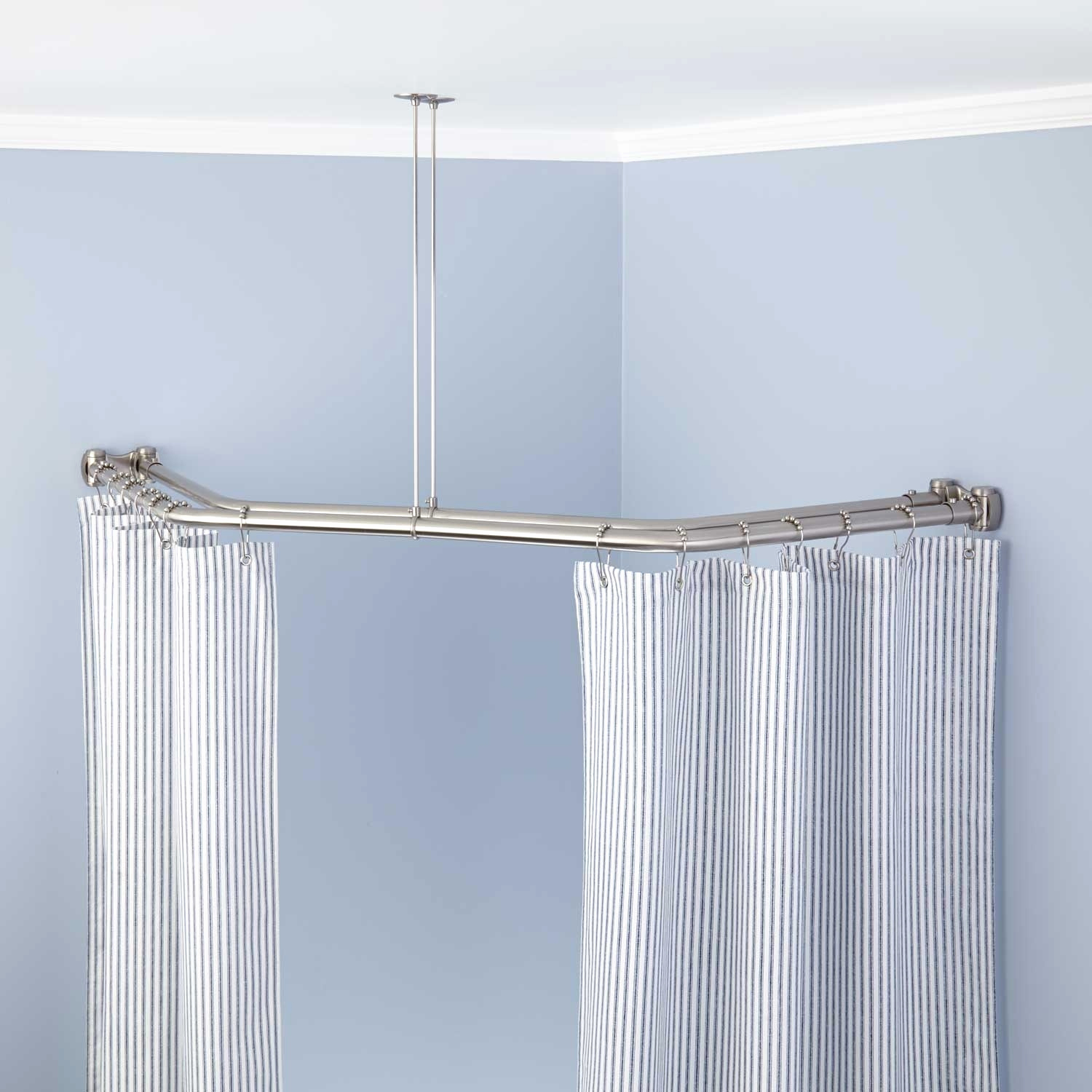 Short Shower Curtain Rod Beautiful Wonderful Blue Extra Long throughout proportions 1500 X 1500
