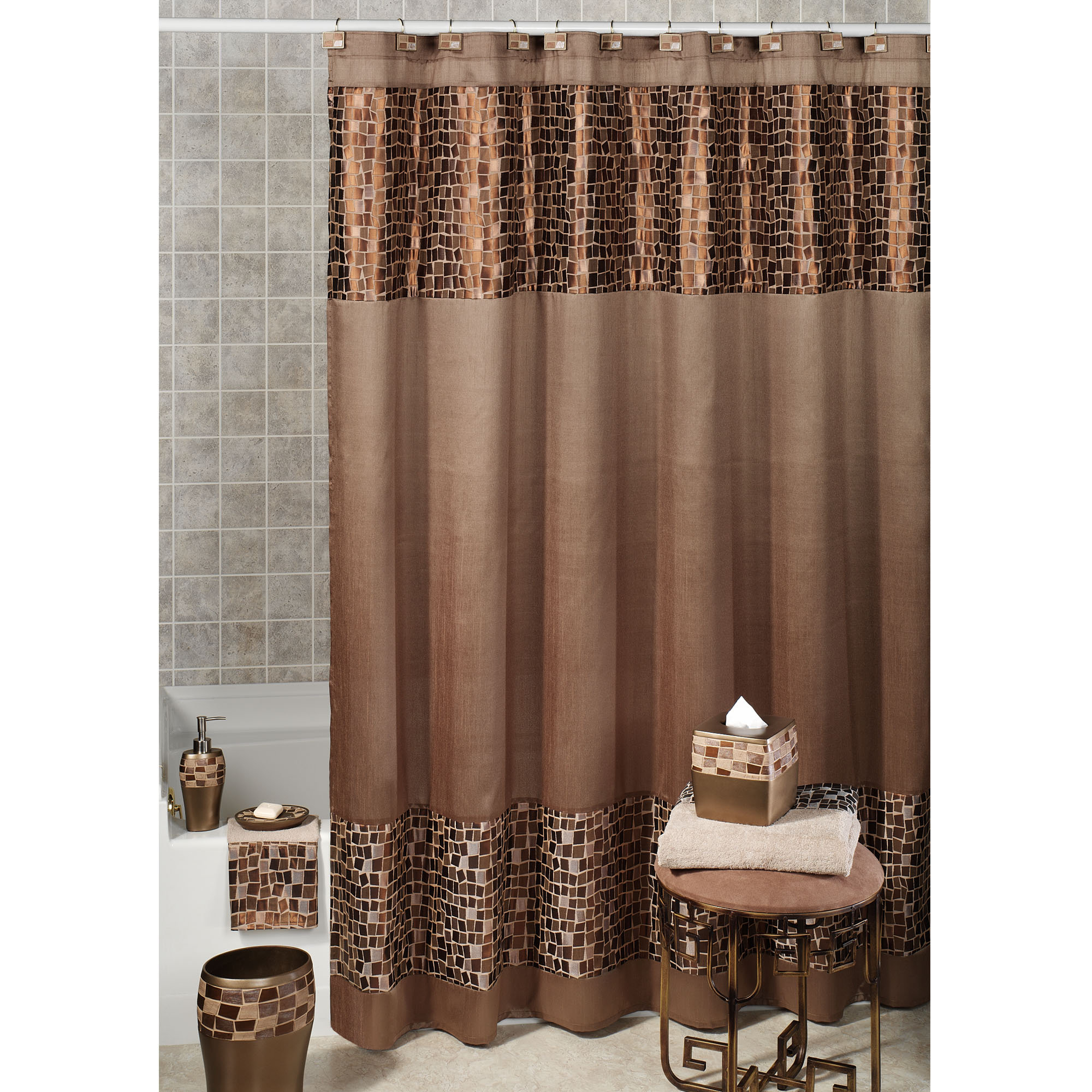 Zebra Print Shower Curtain Set • Shower Curtains Ideas