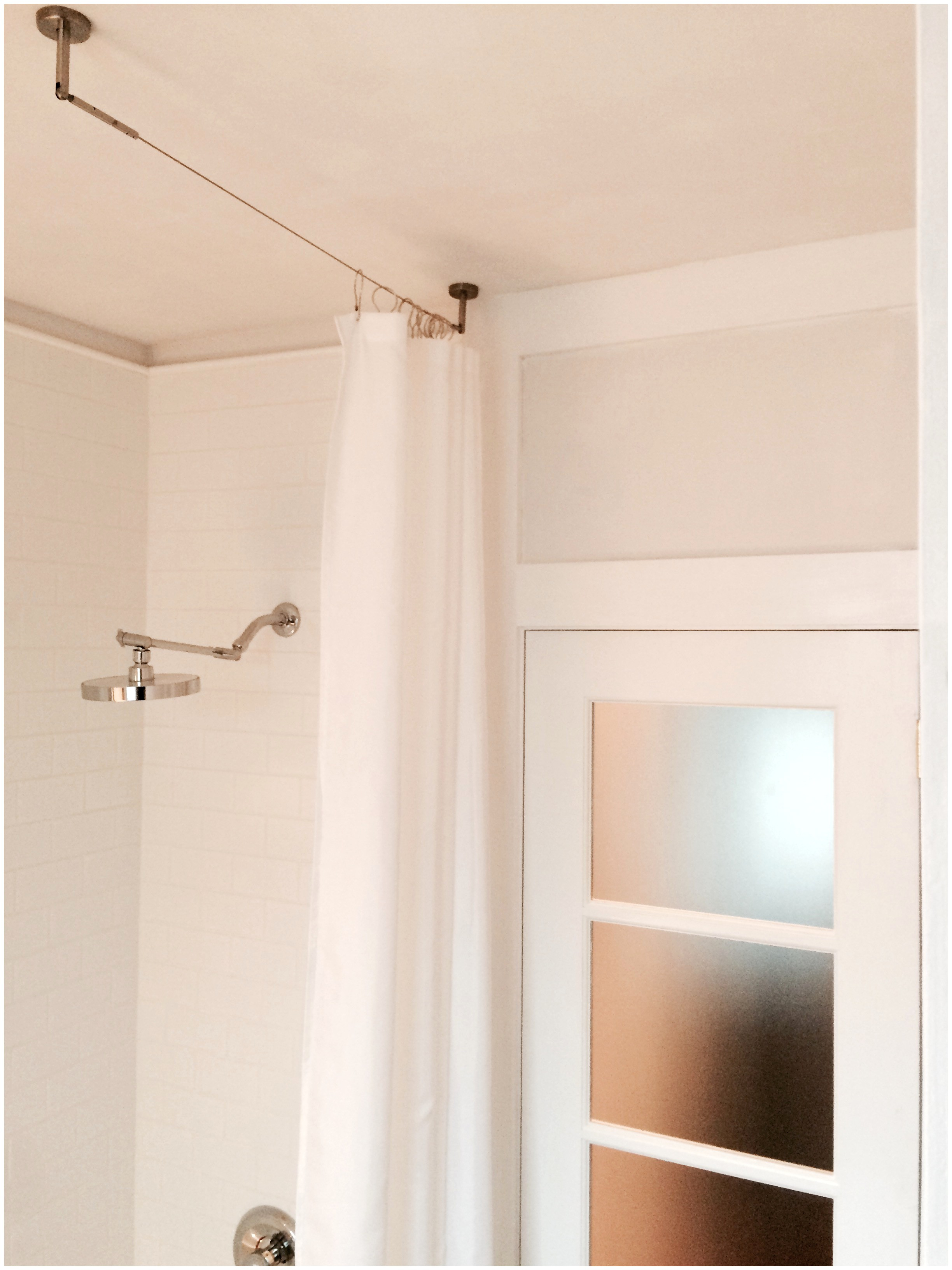 curtain rod measurements rods throughout stall x shower curved