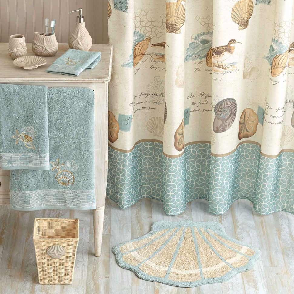 Shower Curtain Antigua Seashells Beach Chapel Hill On Popscreen Throughout  Proportions 970 X 970