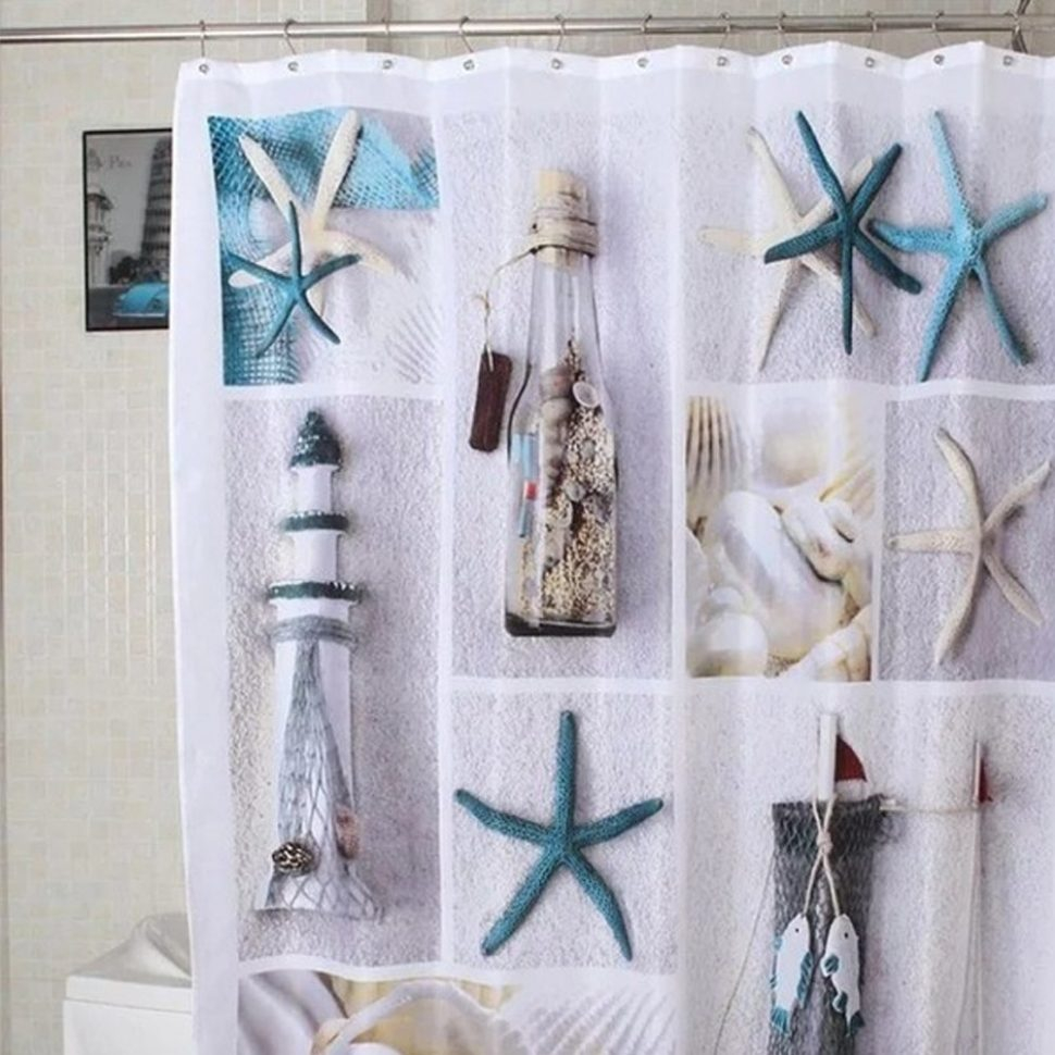 Shower Curtain Antigua Seashells Beach Chapel Hill On Popscreen With Regard  To Measurements 970 X 970