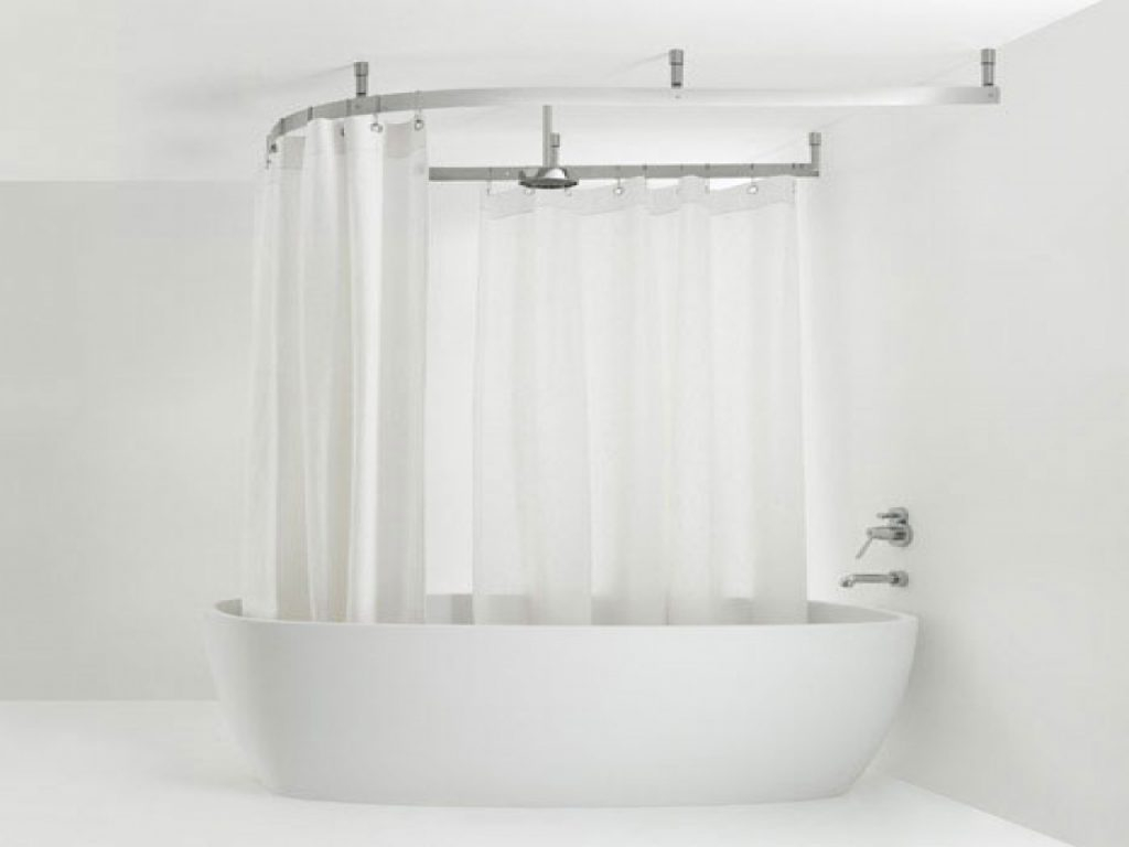 Shower Curtain Rod For Garden Tub Shower Curtains Ideas