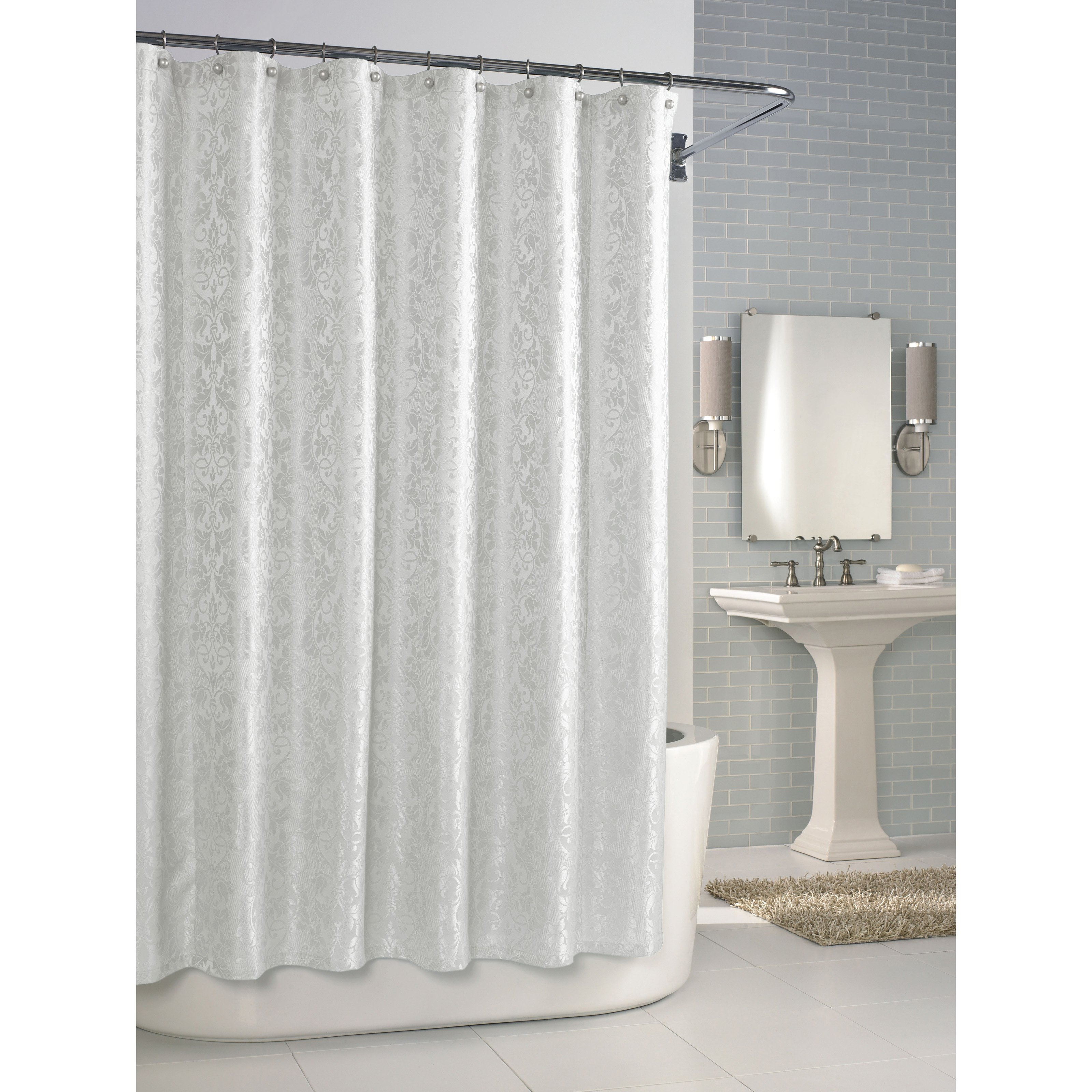 Shower Curtain Liner For Curved Rod • Shower Curtains Ideas