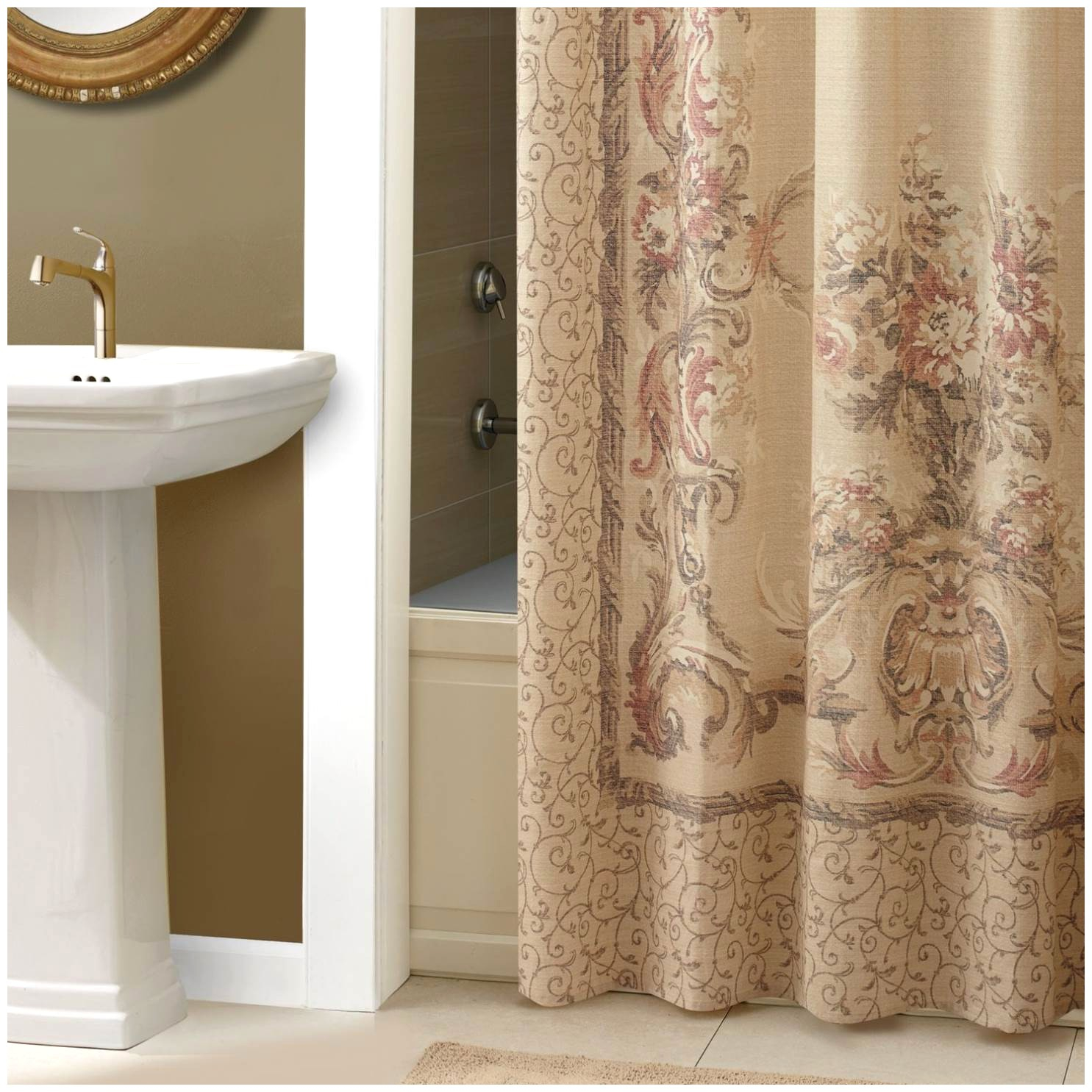 curtain champagne for and gold sequinedwer curtains window set sets bathroom log prestigue of awesome full images design home ideas shower setsbathroom accessories size