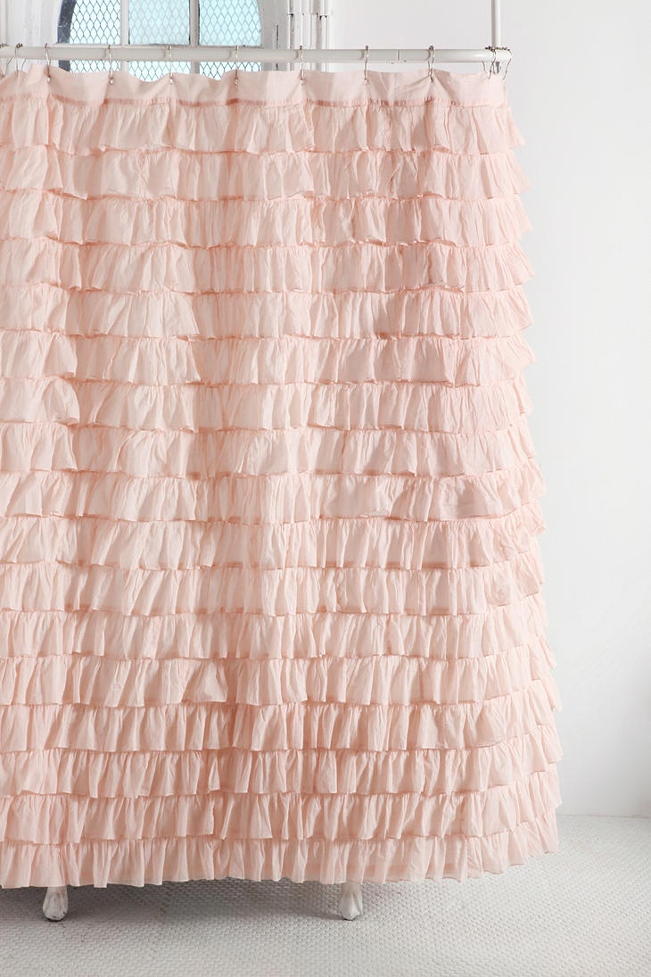 Baby Pink Ruffle Shower Curtain • Shower Curtains Ideas