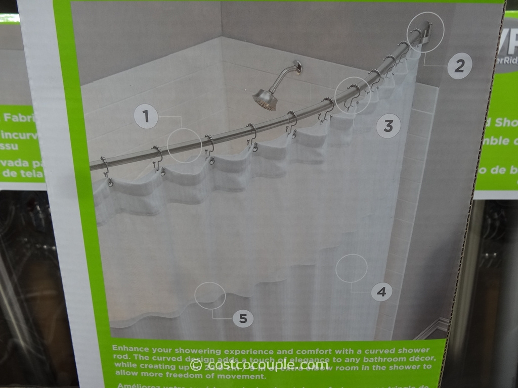 Shower Curtain Rod Curved Rotating Shower Curtain inside proportions 1024 X 768