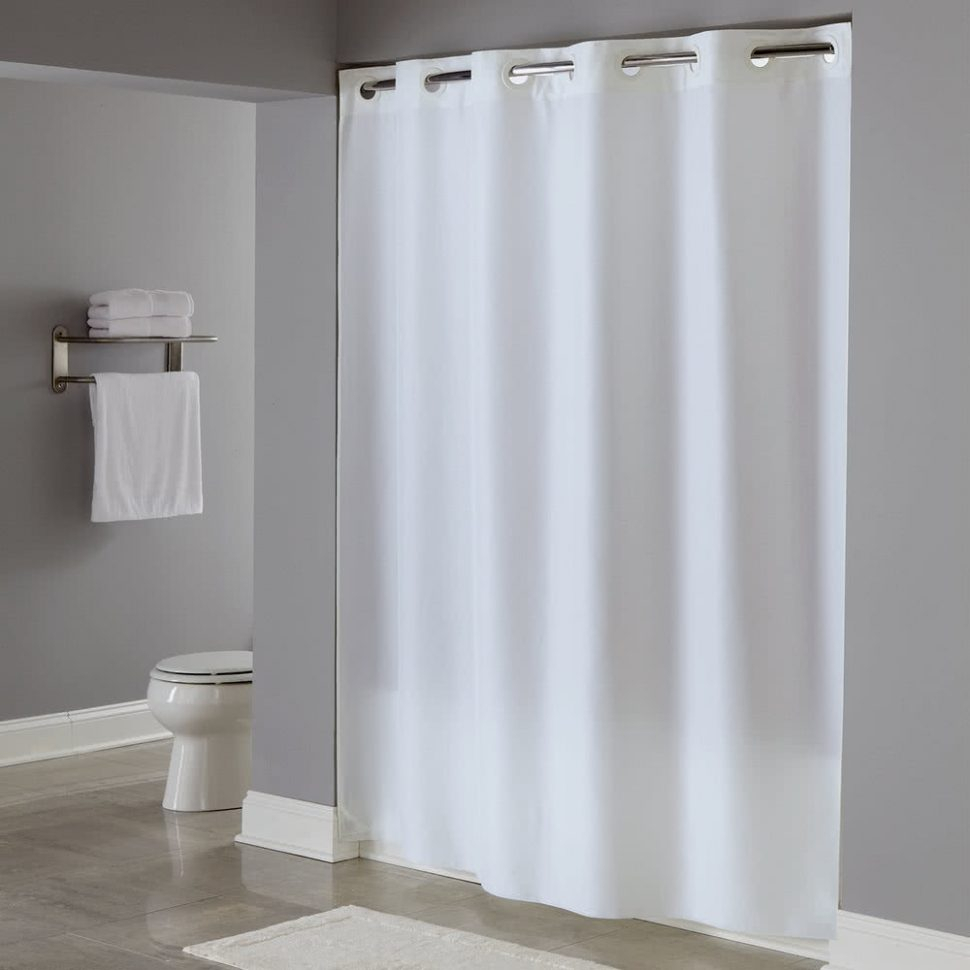 Shower Curtain Rod Hotel Style Shower Curtains Design throughout size 970 X 970