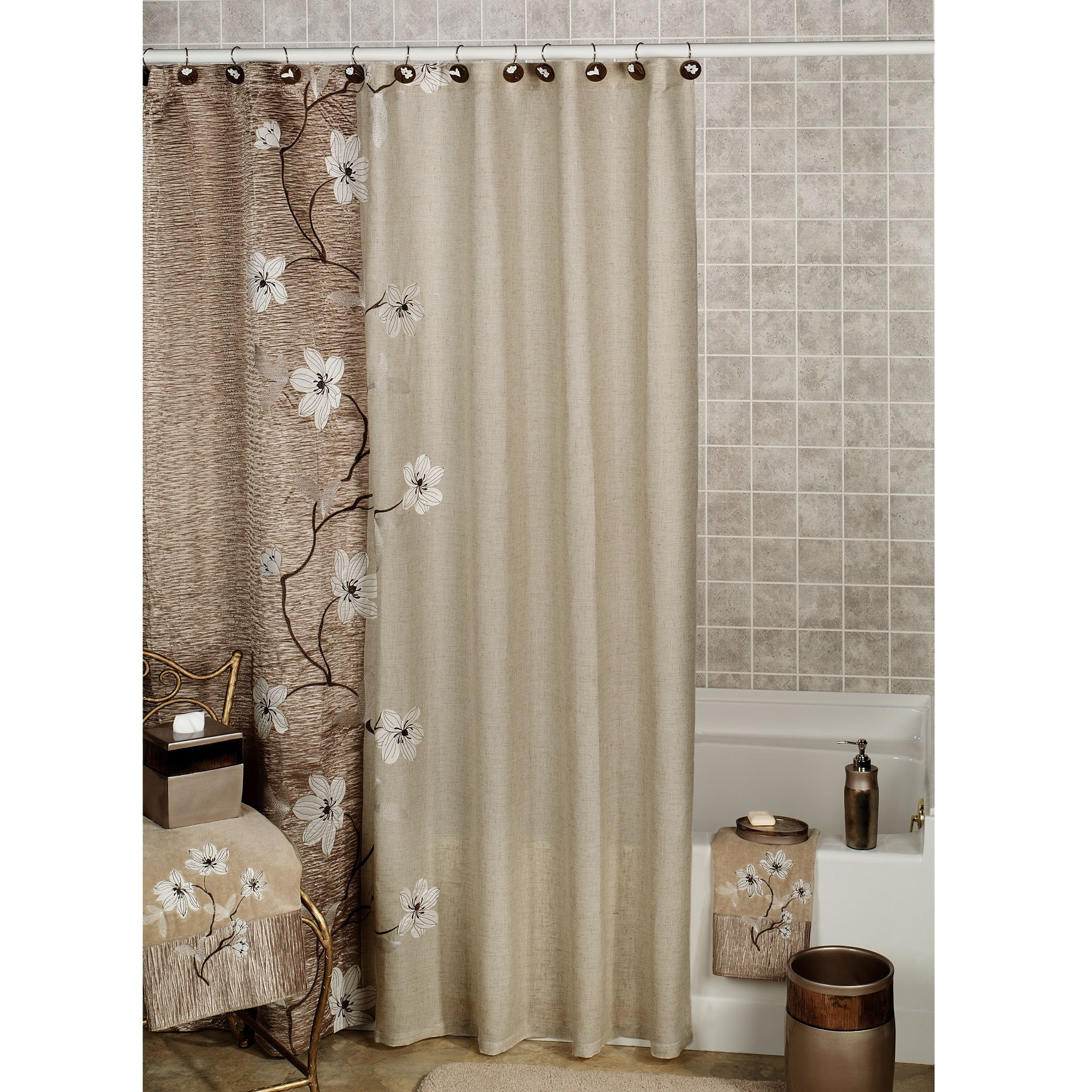 Shower Curtain With Matching Window Valance Curtain Rods And with regard to measurements 2000 X 2000