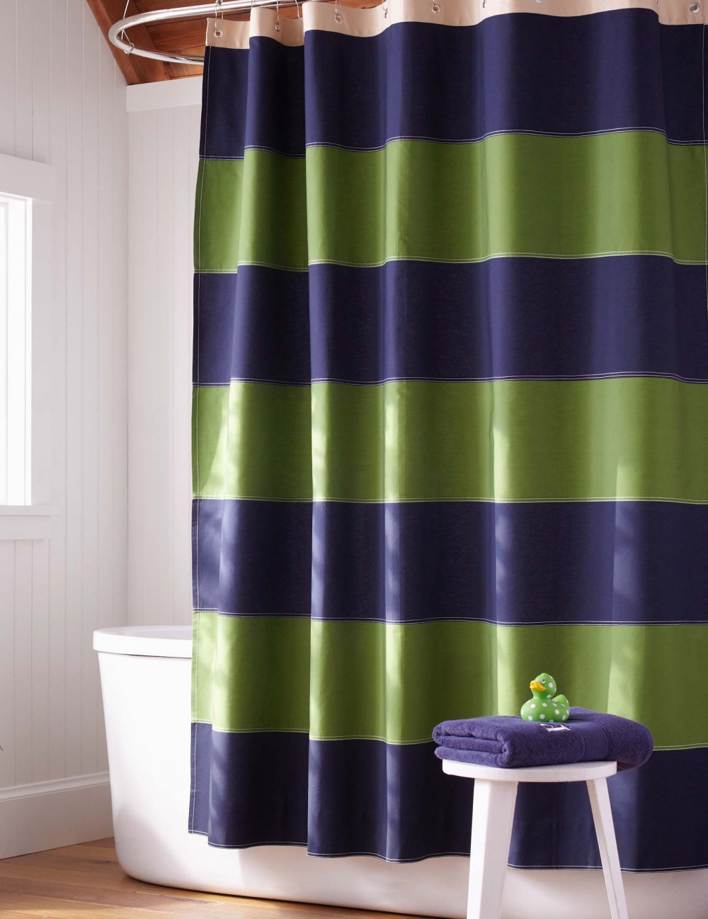 Shower Curtains Photo Heres A Shower Curtain With Navy B throughout measurements 1000 X 1297