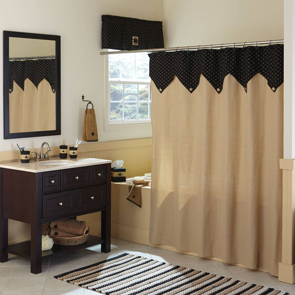 Country Blue Shower Curtains - Home The Honoroak
