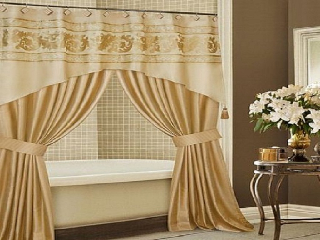 Shower Curtains With Valance Style Shower Curtains With Valance throughout proportions 1025 X 768