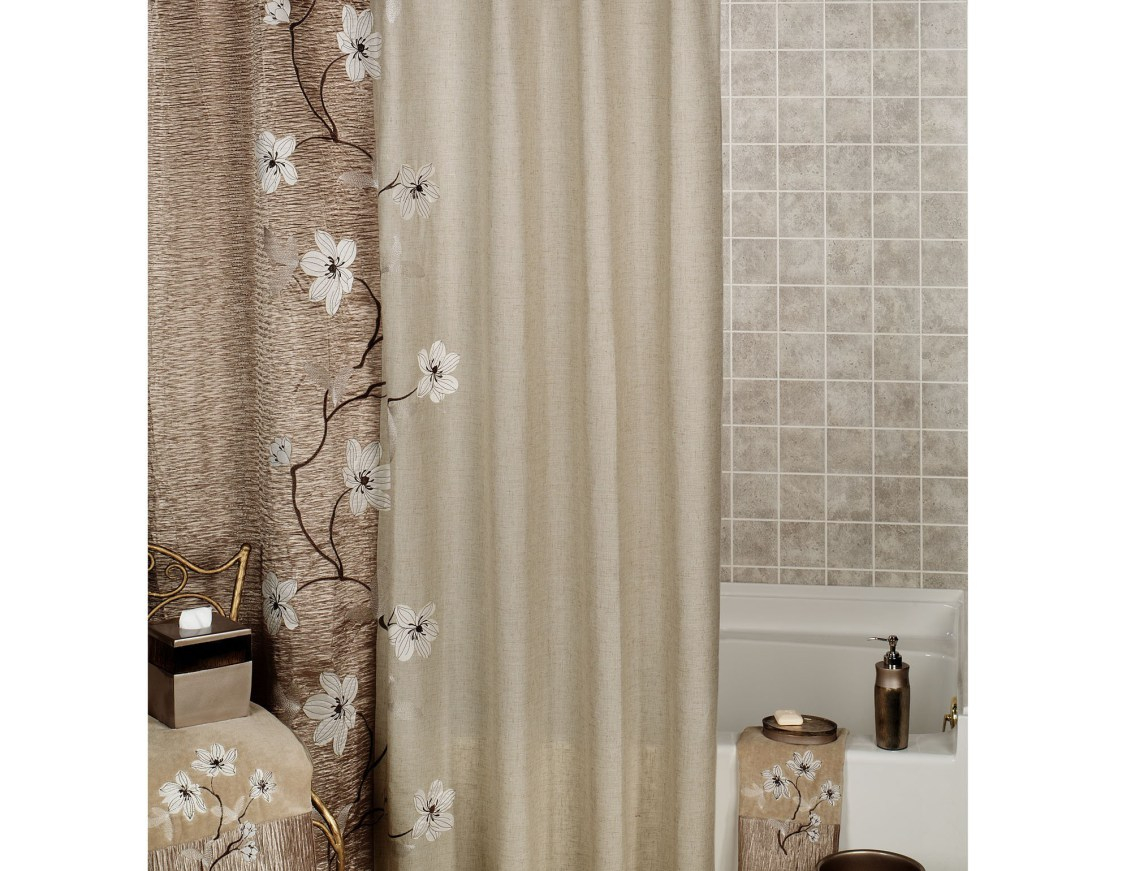 Shower Favorite Eye Catching Croscill Shower Curtains Spa Tile pertaining to measurements 1131 X 871