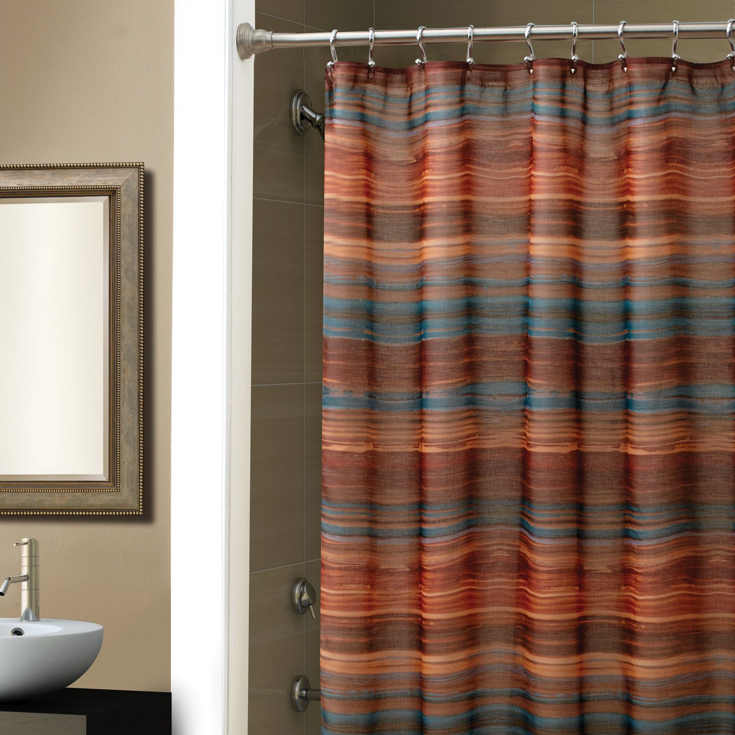 Shower Favorite Eye Catching Croscill Shower Curtains Spa Tile pertaining to measurements 1500 X 1500