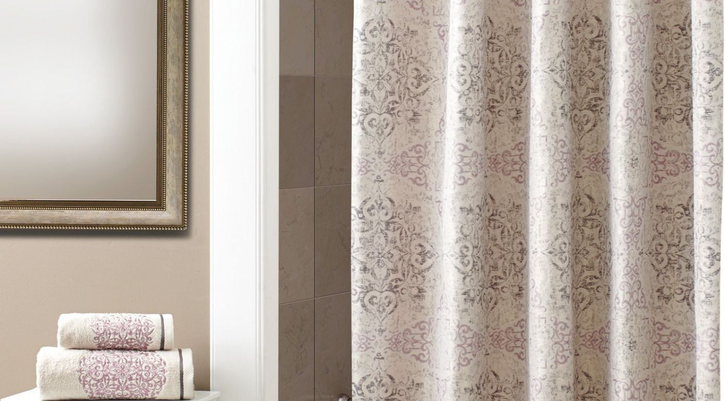 Shower Favorite Eye Catching Croscill Shower Curtains Spa Tile regarding measurements 1416 X 784