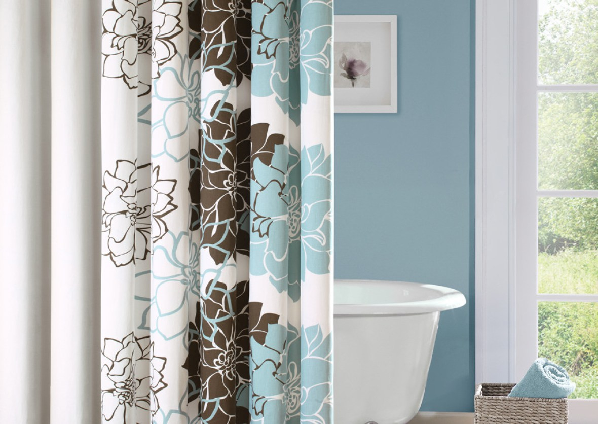 Chic polka dotted shower curtains amazing themed shower for Awesome shower curtains