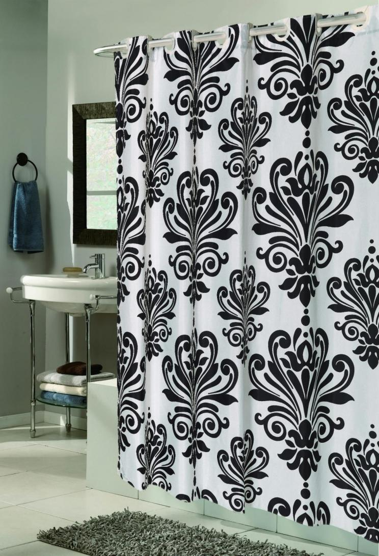Black And White Flower Shower Curtain. Shower Zen Floral Burgundy Gray And White Curtain Quality for  dimensions 744 X 1091 Black Print Curtains Ideas