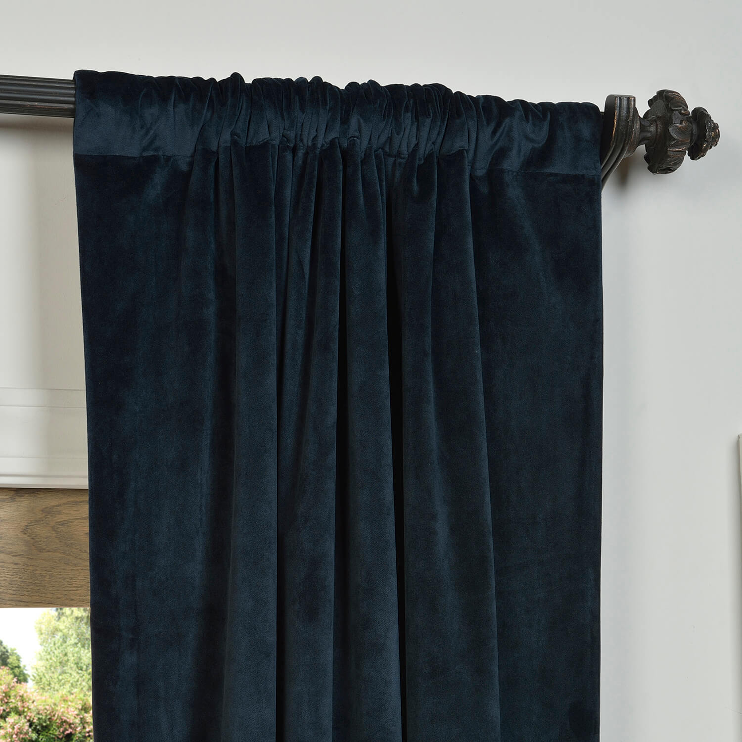 Signature Midnight Blue Blackout Velvet Curtains within size 1500 X 1500