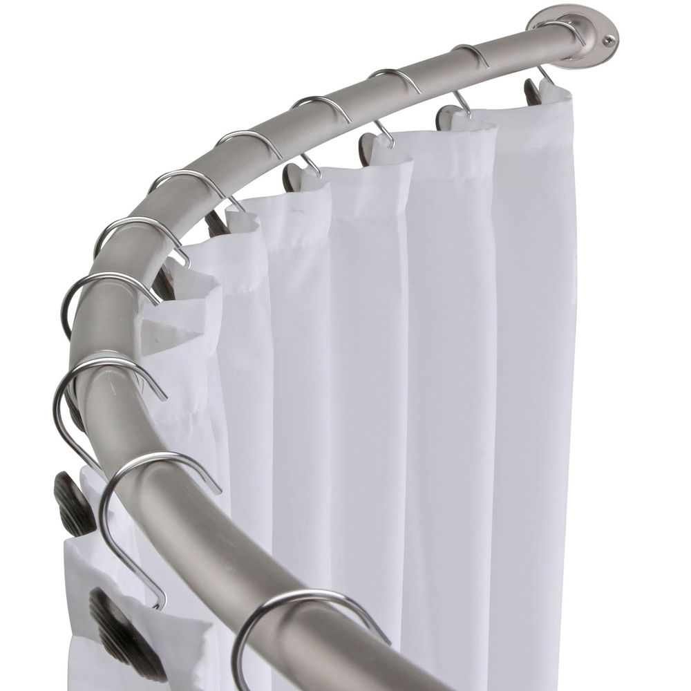 Smart Idea Shower Curtain Rod Brushed Nickel Curved Shower Curtain with sizing 1000 X 1000