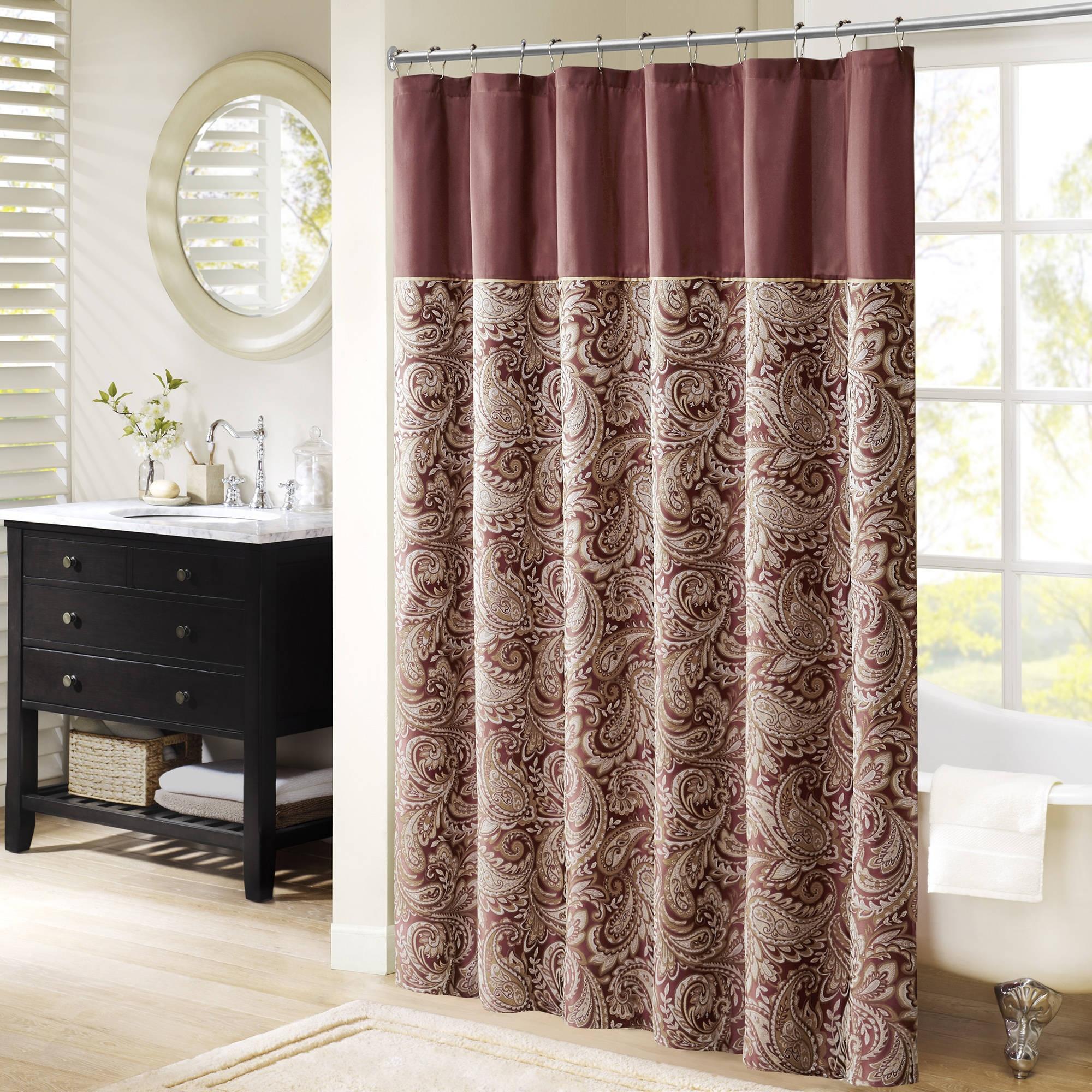 Solid Bright Red Shower Curtain In Dimensions Jpg 2000x2000 Curtains