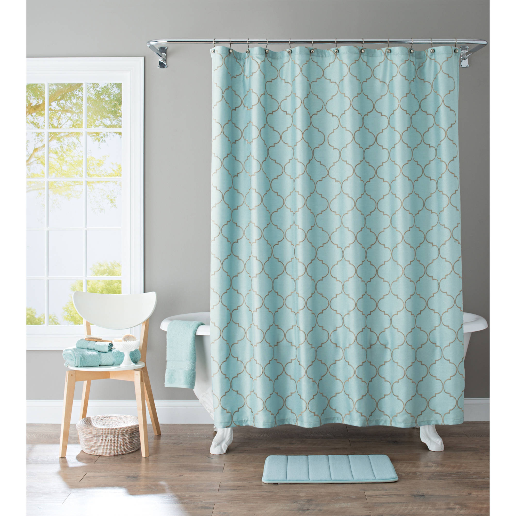 Solid Cranberry Shower Curtain Pertaining To Sizing 2000 X