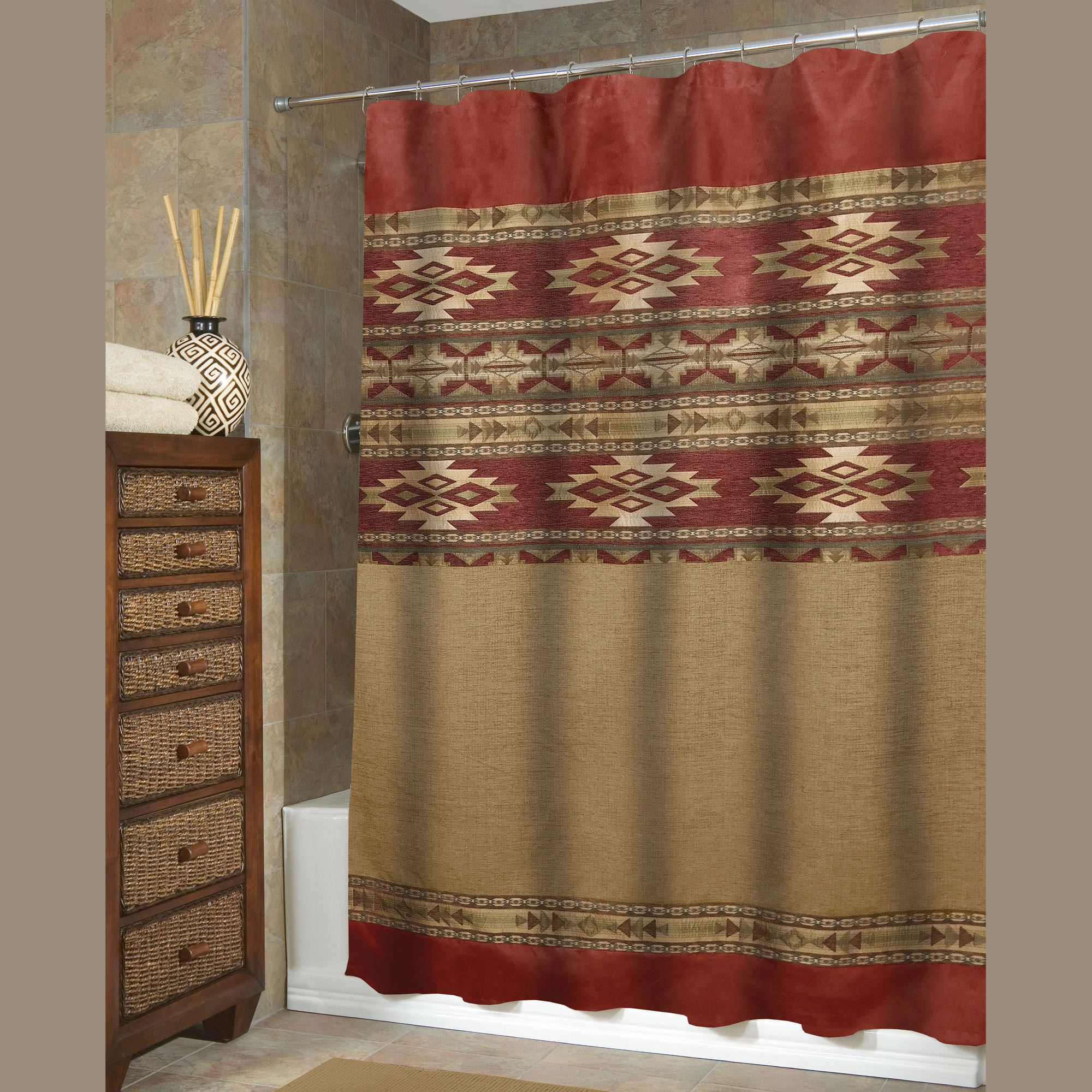 Sonorah Southwest Shower Curtain Veratex inside sizing 2000 X 2000
