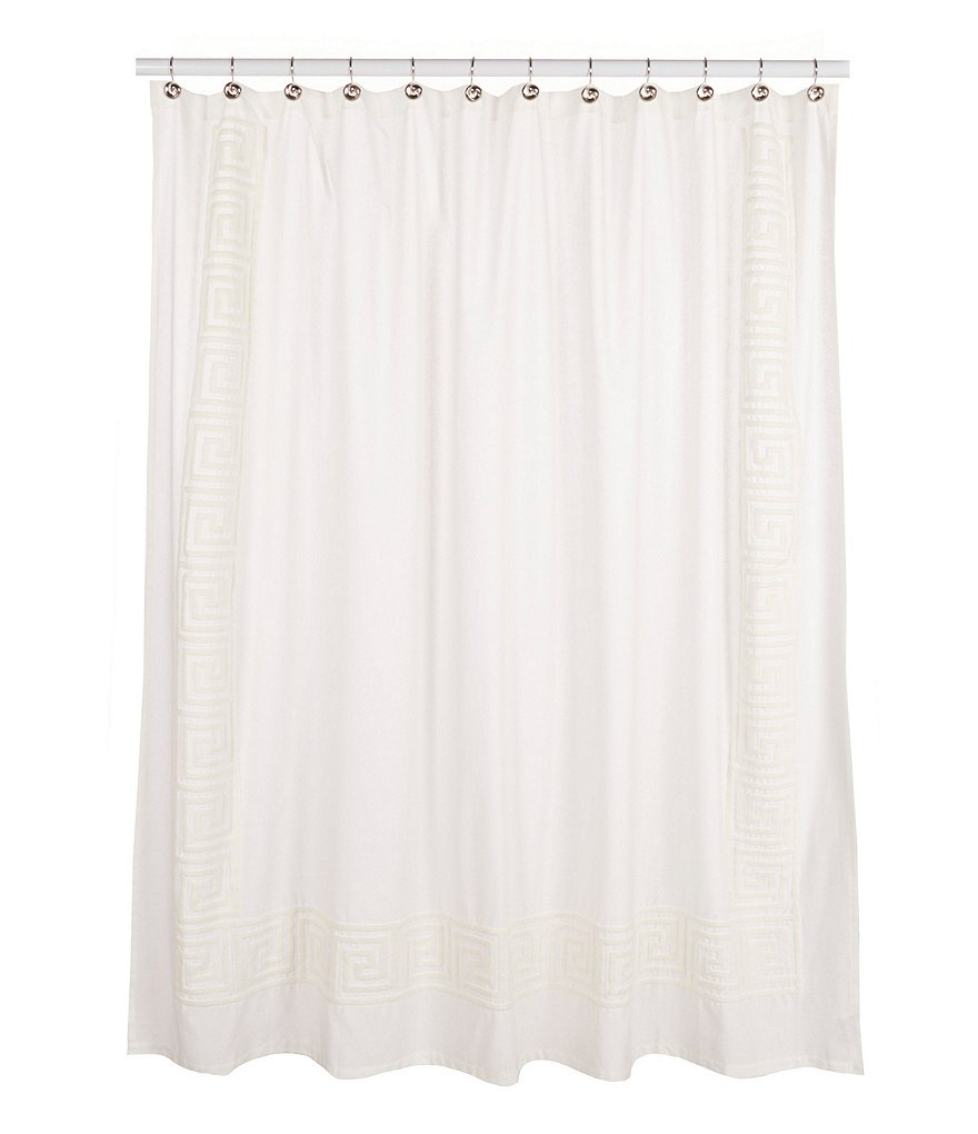 Southern Living Greek Key Bordered Cotton Linen Matelass Shower for measurements 880 X 1020