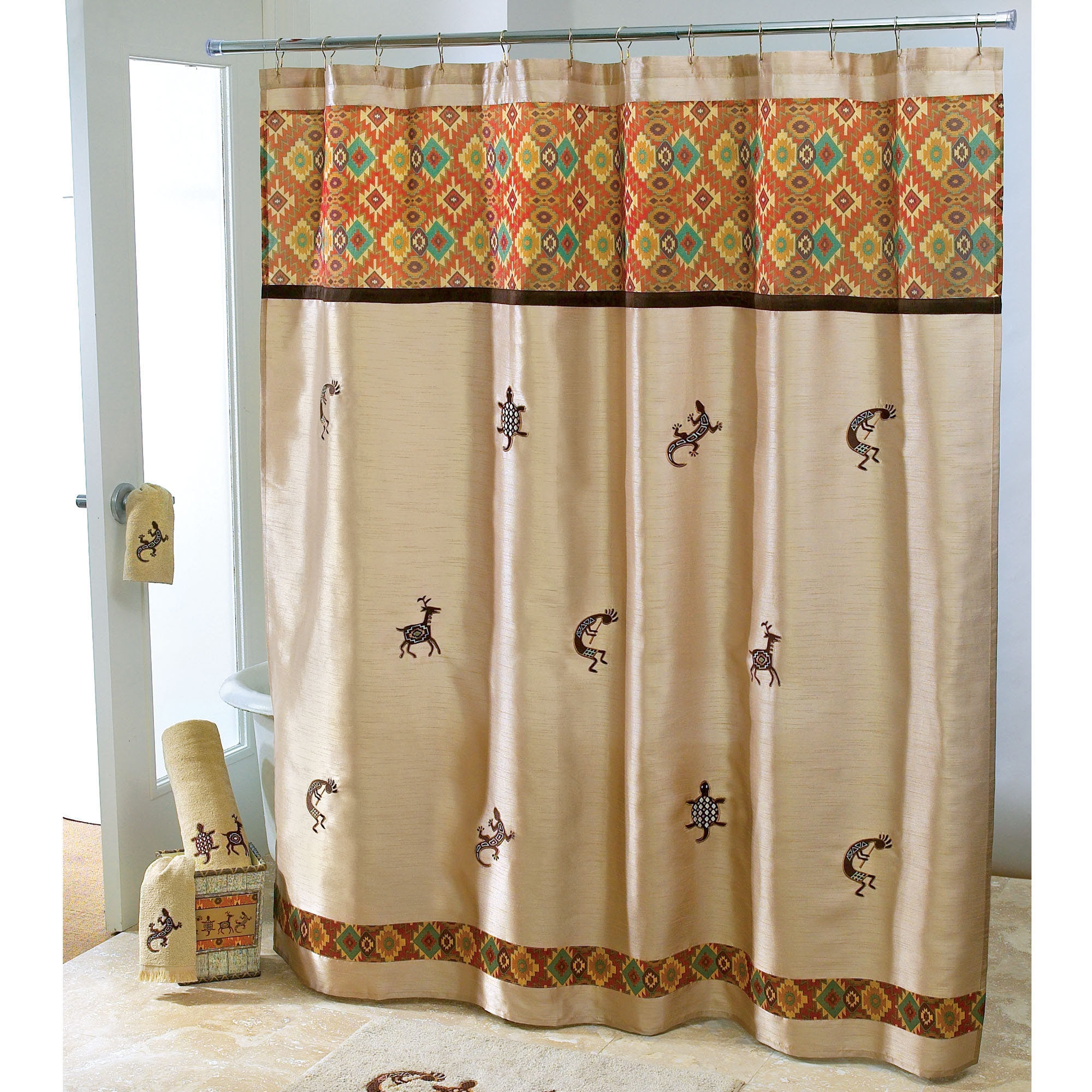 Southwest Shower Curtain Curtain Ideas regarding measurements 2000 X 2000