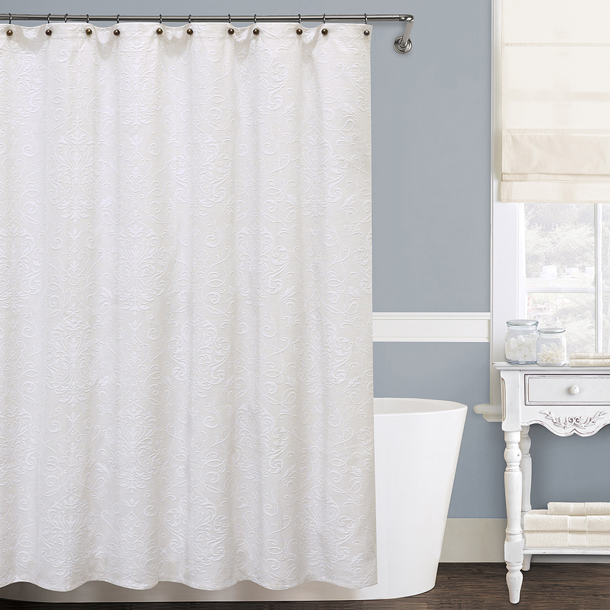 Shower Curtain Size For Curved Rod • Shower Curtains Ideas