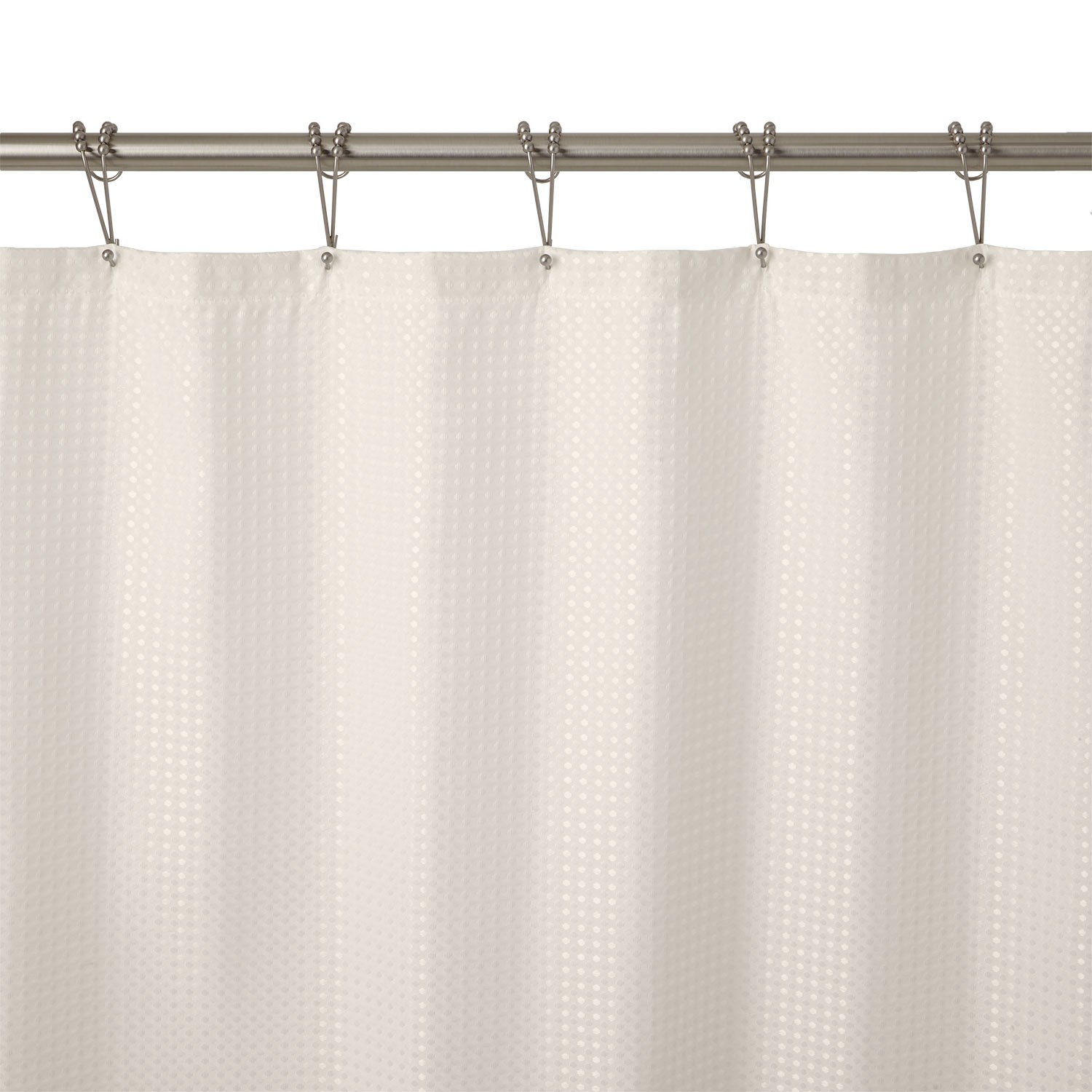 Stillman Polyester Shower Curtain Waffle Weave Cream Bathroom in dimensions 1500 X 1500