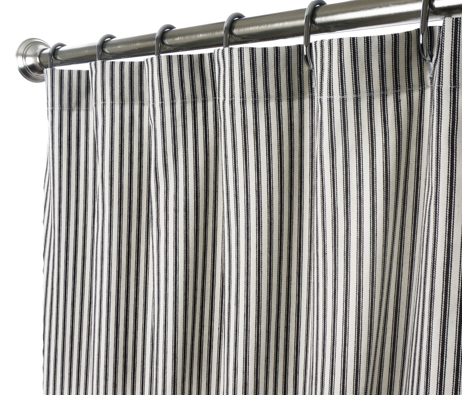Striped Black White Shower Curtains With Steel Curtains Ring And with measurements 1500 X 1284