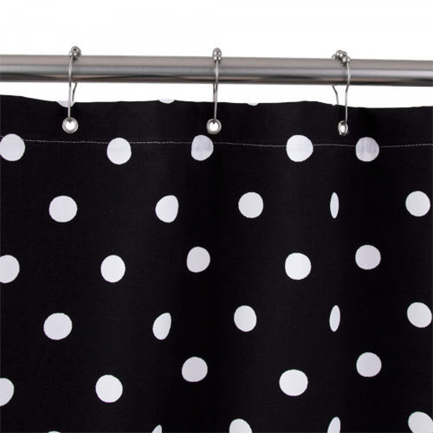 Stylish Ideas Black And White Polka Dot Shower Curtain Lofty Throughout Sizing 1500 X