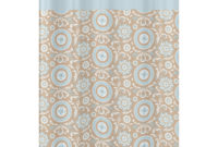 Sweet Jojo Designs Blue And Taupe Hayden Cotton Shower Curtain with regard to size 3000 X 3000