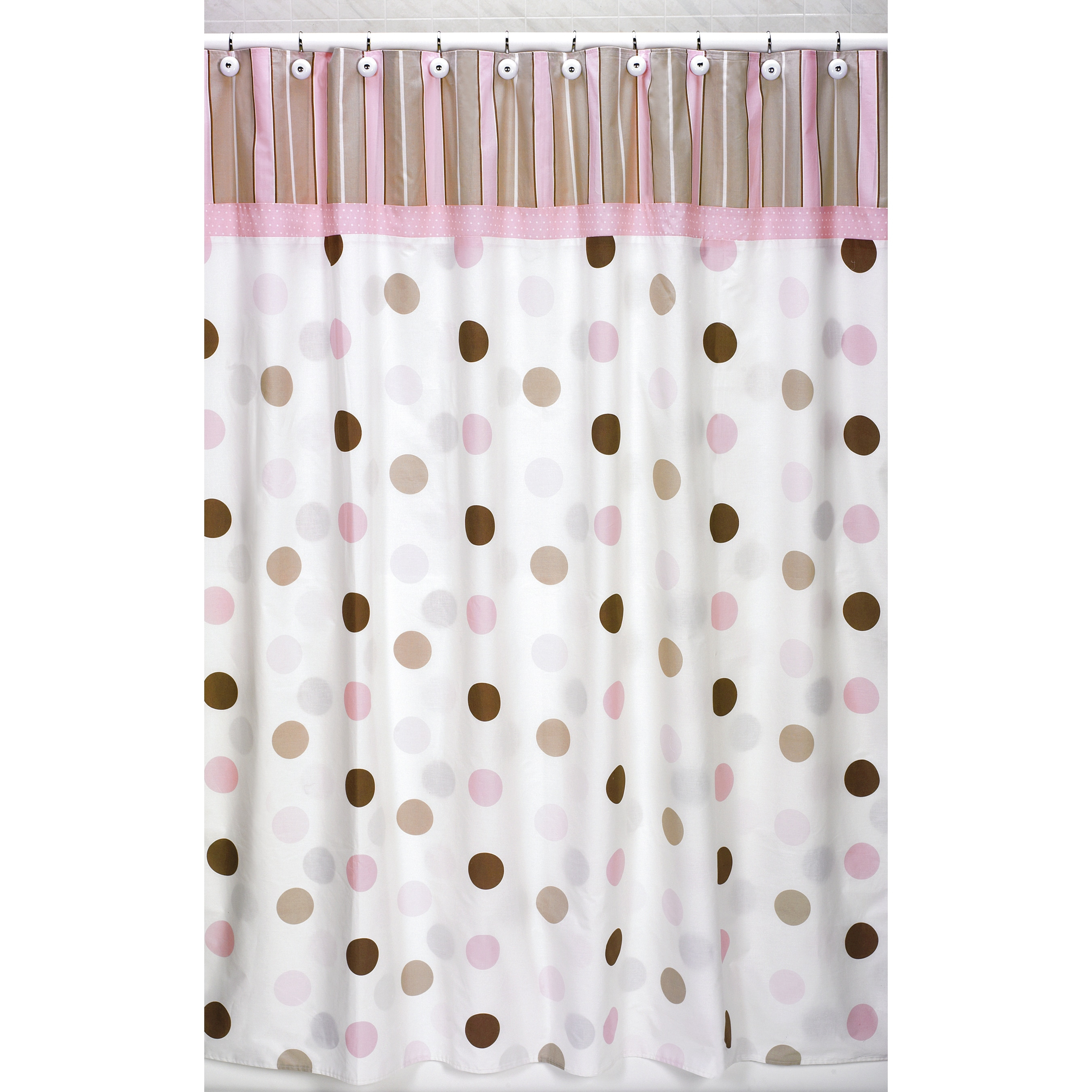 Pink And Brown Stripe Shower Curtain • Shower Curtains Ideas