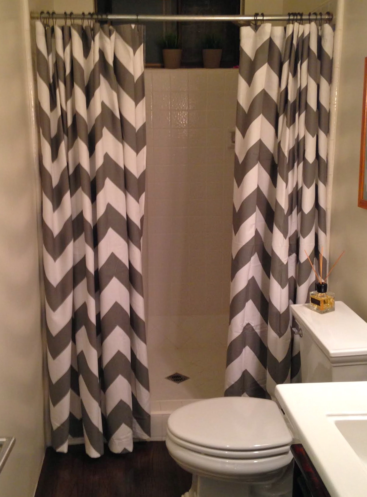 Tan And White Chevron Shower Curtain Shower Curtain Design in size 1238 X 1676