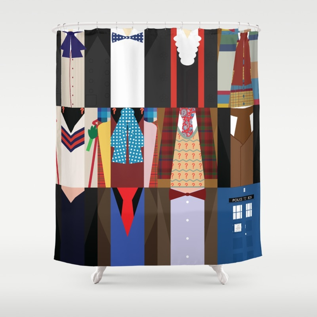 Tardis Shower Curtain Hooks Design Pertaining To Size 1080 X