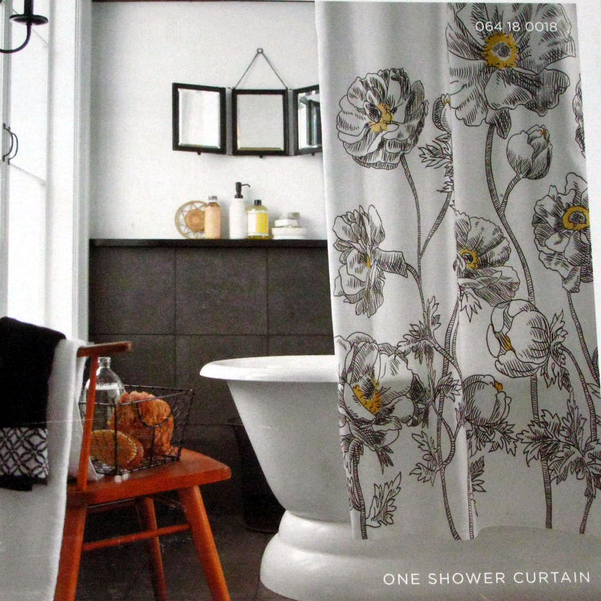 Black And White Flower Shower Curtain. Target Home Yellow Sketch Floral Black White Fabric Shower Curtain intended  for proportions 1200 X And Curtains Ideas