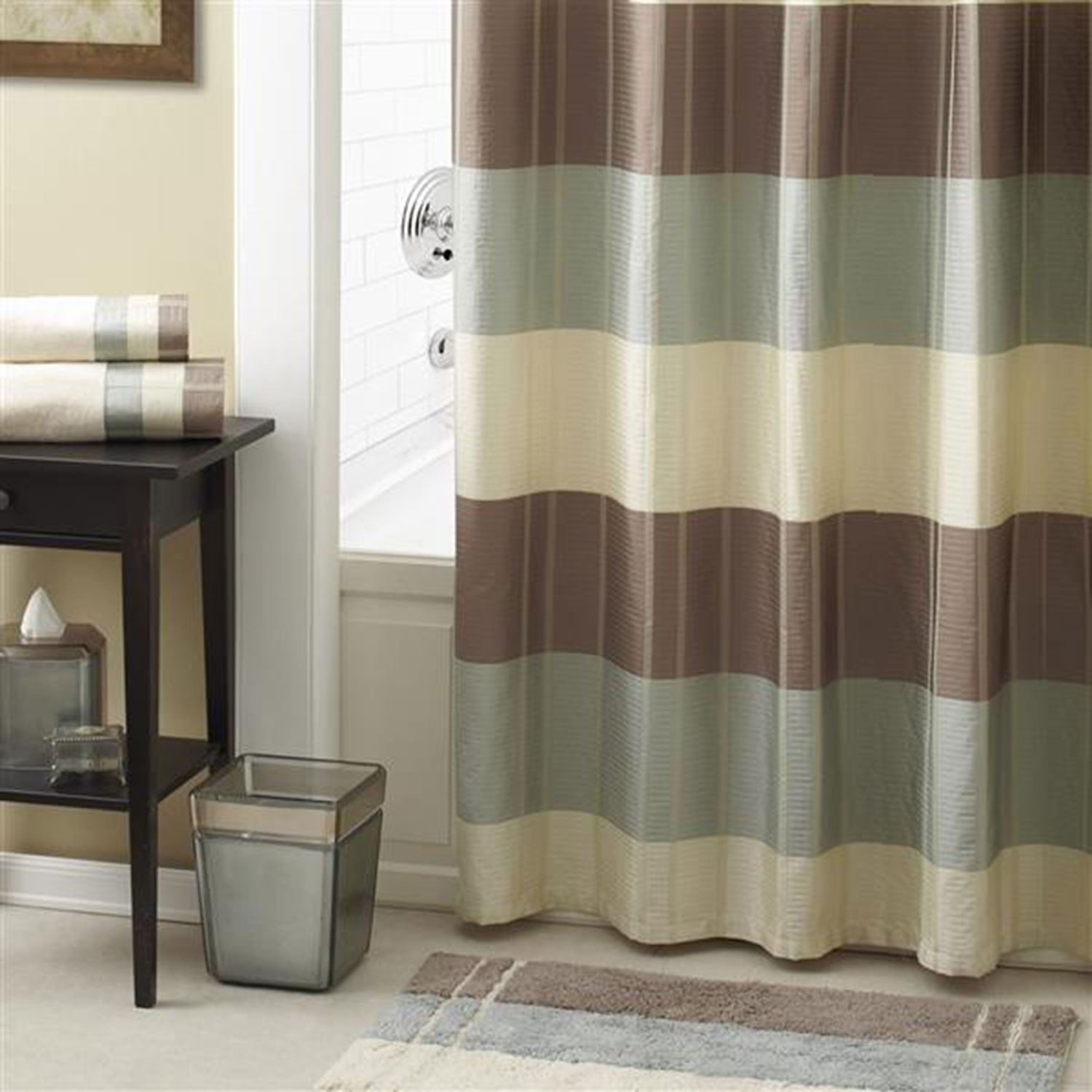 Taupe Croscill Fairfax Shower Curtain Linens N Things Throughout  Proportions 1500 X 1500