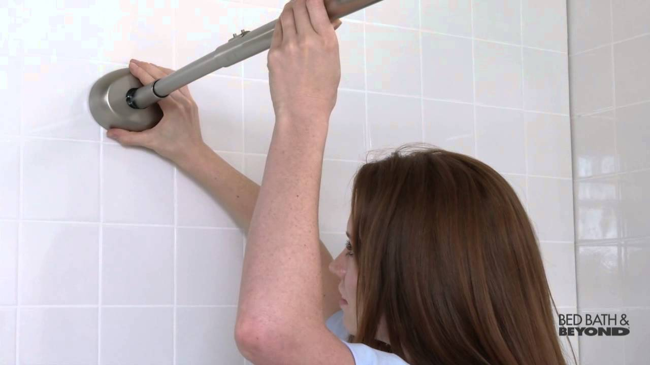 The Gripper Easy Install Adjustable Curved Shower Rod At Bed Bath regarding sizing 1280 X 720